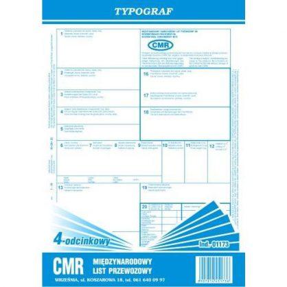 Druk CMR 4-odcinkowy (bloczek) A4 Typograf 01173